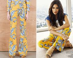 Shay Mitchell for Seventeen Magazine | August 2015Karen Walker'Bluebell Flares' - $119.05Worn with: Aeropostale tee, Isa Tapia shoes, Meadowlark necklace, Uncommon Matters bracelet, WXYZ bracelet, Arme de L'Amour ring, A Peace Treaty ring