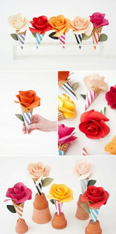 How to make colorful cone flowers step by step DIY tutorial instructions thumb