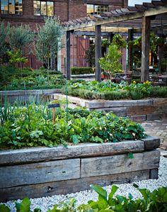 Softwood Timber Raised Sleeper beds - Gardening Take | Garden Ideas on