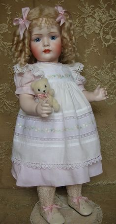 """Bruno Schmidt """"Bettina""""... this doll was made as a custom order by Emily Hart"""