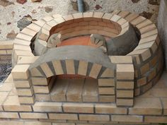 Mon four à pain - barbecue « Mutter ADS Build A Pizza Oven, Pizza Oven Outdoor, Wood Oven, Wood Fired Oven, Pizza Oven Fireplace, Oven Diy, Outdoor Cooking Area, Brick Bbq, Wood Burning Oven