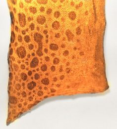 Fish Leather YELLOW Spotted Wolffish glossy glazed eco friendly genuine exotic fish skin crafts,bookbinding, shoes, purses, jewelry