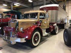 "Brian Rowland near Pottstown, Pennsylvania says, ""From the Mack Museum's Trucktoberfest. Old Mack Trucks, Old Pickup Trucks, Big Rig Trucks, New Trucks, Custom Trucks, Cool Trucks, Classic Tractor, Classic Chevy Trucks, Classic Cars"