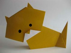How to make an origami cat ~ step by step photo tutorial.  There's also a page of easy-origami-makes (http://www.origami-instructions.com/simple-origami.html) and one especially designed for children (http://www.origami-instructions.com/origami-for-kids.html) :)