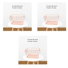 3pcs of S size 25cm Rose Gold Iron Storage Basket Metal Cloak Basket Reception Basket for clothes Bourcery Nordic Home style-in Storage Baskets from Home & Garden on Aliexpress.com | Alibaba Group
