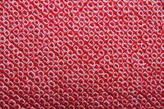 Japanese vintage red shibori kimono jacket (haori)