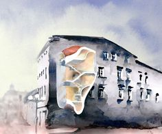 House for Rafal Wojaczek in Mikolow #architecture #painting #watercolor #competition #design http://goo.gl/BAM7R0
