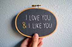 "I Love You & I Like You - Parks and Recreation Quote - Leslie Knope Quote - Wall Hanging - 3"" x 5"""