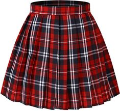 Plaid skirts for tennis plaid skirt women`s japan school a-line kilt plaid pleated summer skirts blue ) NRANFOM Red Skirts, Cute Skirts, Plaid Skirts, Summer Skirts, Red A Line Skirt, Plaid Pleated Skirt, Teen Fashion Outfits, Mode Outfits, Girl Outfits