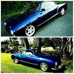 1957 Low Light Karmann Ghia Before and After VW porn Wolfsburg vintage volkswagen pussycat aircooled swan neck mirrors euro bumpers cookiecutters Porsche alloys 1776