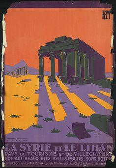 La Syrie et le Liban by Boston Public Library, via Flickr  Compagnie des chemins de fer de Paris a Lyon et a la Mediterranee