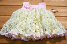 Baby dress Crochet dress Baby pineapple lace by crochetyknitsnbits, £29.99
