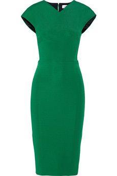 Victoria Beckham Stretch-knit midi dress | NET-A-PORTER