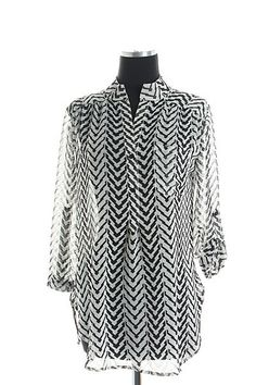 The Texas Cowgirl - Black White Chevron Zig Zag Blouse Shirt, (http://www.thetexascowgirl.com/black-white-chevron-zig-zag-blouse-shirt/)