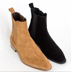 Upper Genuine Suede Linig Soft Leather Sole Genuine leather Heel Genuine leather All Hand stitch Manufacturing time 10 days WorkoutClothingWomen's is part of Suede chelsea boots - Black Chelsea Ankle Boots, Ankle Boots Men, Suede Chelsea Boots, Shoe Boots, Mens Chelsea Boots, Dress With Boots, Dress Shoes, Fashion Boots, Mens Fashion