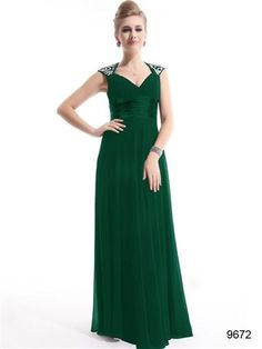 Rated Ever Pretty Chiffon Sexy V-neck Ruffles Empire Line Evening Dress Green, Sexy Trailing Long Evening Dress. This Ever-Pretty brand for sale at lowest price, order today and choose One-Day Shipping at checkout. Beautiful Bridesmaid Dresses, Beautiful Gowns, Pretty Dresses, Bride Dresses, Women's Dresses, Halter Dresses, Dress Prom, Party Dress, Green Evening Dress
