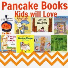 Pancake Books for Kids to celebrate National Pancake Day on March Pancake Day Shrove Tuesday, Pancake Party, Pancake Breakfast, School Breakfast, Pancakes And Pajamas, Children's Literature, Book Lists, Childrens Books, Activities For Kids