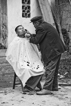 Fresh Cut, A street Barber China