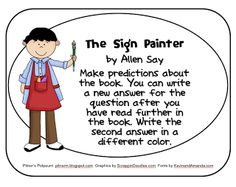 The Sign Painter -- Freebie -- Common Core Text Exemplar