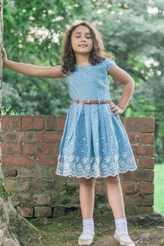 Chambray Girls Dress, Girls Fashion, girls summer dress, Girls style, Kids Fashion, Girls FASHION Photography, The Inspiration Edit