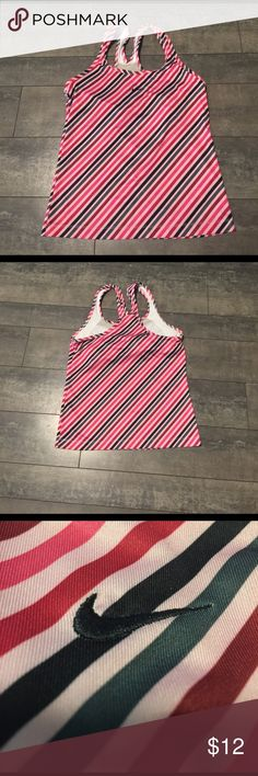 Nike pink/red/black/grey workout tank size medium Nike pink/red/black/grey workout tank size medium Nike Tops Tank Tops