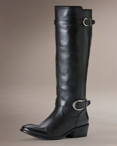 Carson Buckle Frye boots in black, I think I need these.