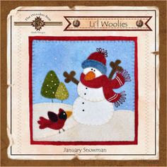 Lil Woolies Block Of the Month  - January Snowman