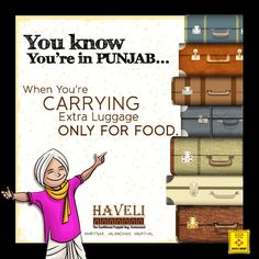 When You''re Carrying Extra Luggage Only For Food. Desi Humor, Desi Jokes, Punjabi Quotes, Dil Se, Namaste, The Incredibles, Lol, Facts, Pure Products
