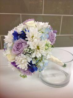 Wedding bouquet blue and purple