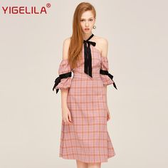 Find More Dresses Information about YIGELILA Brand 62340 Latest New Women Fashion Sexy Halter Off Shoulder Lantern Sleeve Beach Casual Plaid Dress,High Quality fashion jewelry cubic zirconia,China fashion sequin dress Suppliers, Cheap dress floor from YIGELILA store on Aliexpress.com