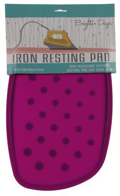 Dahlia Purple Iron Resting Pad Heat Resistant Silicone Morgan Home Brighter Days - FUNsational Finds - 1