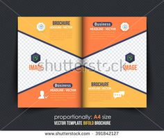 Colorful Business BiFold Brochure Design Corporate Leaflet
