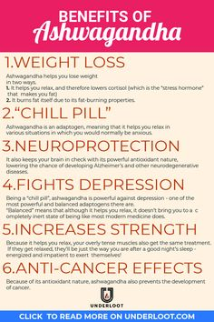 Ashwagandha is a powerful adaptogen that's mainly focused at helping you relax. these 6 awesome benefits it brings to the table are only a few of them. If you want to relax and feel great about yourself, make sure you include it into your supplements sta Health Benefits, Health Tips, Health Care, Slim Fast, Fat Fast, Weight Loss Challenge, Yoga, Natural Cures, Natural Remedies