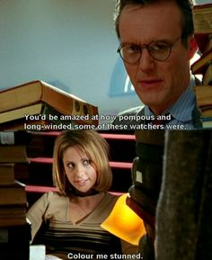 Buffy and Giles library