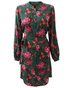 This feminine and luxurious silk shirt dress is a great piece for this season. From an exclusive print to EAST, it features deep warm colours and a vibrant floral print adding colour to your wardrobe. It also features smoke shell buttons, front tie fastening, softly gathered cuffs and a nehru collar adding an oriental touch and ineterest to this beautiful peice. Wear with tights and boots for a luxurious look. Read more at http://www.east.co.uk/emilia-silk-dress-green/#P5D5zO4QkPTKHMDu.99