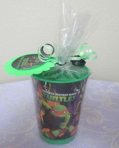 TMNT Teenage Mutant Ninja Turtle Party Favors Souvenir Cup Goodie Bags Loot Bags #TMNTTeenagemutantninjaturtles #BirthdayChild