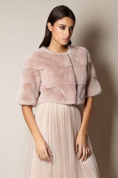 Mini Mink Fur Jacket for Dress - Cipria Pink, available to purchase in our London boutique..x www.suzannah.com