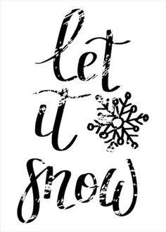 Printable Christmas Cards - Let It Snow Snowflake Black White Let It Snow Sign, Free Printable Christmas Cards, Black Christmas, Christmas Quotes, Homemade Gifts, Free Printables, Card Making, Black White, Greeting Cards