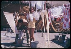 High Wire Act    The Flying Concellos hang out their wash at the 1941 Ringling Brothers Barnum & bailey Circus in Chicago, Illinois.    Photo by Charles Cushman  Cushman ID:  1341.2  Archives ID:  P02367  Date:  Aug. 2, 1941