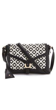 00b247f9c90a Diane von Furstenberg Drew Dia Jacquard Connect Bag My Black