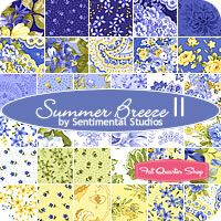 love blue and yellow together ...can't wait to make a quilt with this line of fabric