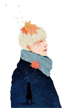 Maple leaves on Behance