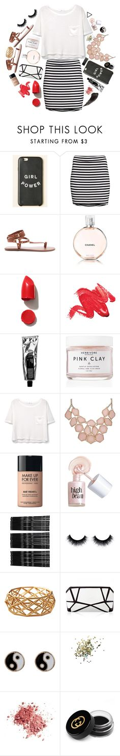 """This life is sweeter than fiction"" by howtobehipsterish ❤ liked on Polyvore featuring H&M, Forever 21, Chanel, NARS Cosmetics, Herbivore Botanicals, MANGO, MAKE UP FOR EVER, Benefit, Monki and Accessorize"