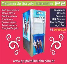 Máquinas de Sorvete Italianinha - Líder em vendas no Brasil - Maior fabricante de máquinas de sorvete, frozen yogurt , açaí e pão de queijo da América Latina