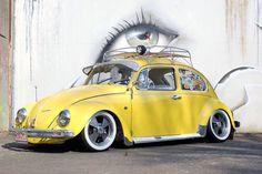 Beetle Bug, Vw Beetles, Art Wall Kids, Wall Art, Volkswagon Van, Yellow Animals, Cool Bugs, Vw Vintage, Datsun 510