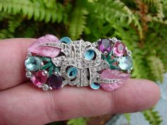 Rare - vintage MARCEL BOUCHER - rhinestone DUETTE CLIP PIN - brooch Sold for $ 128
