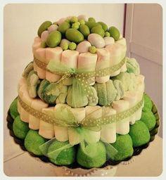 Torta Confetti Mini Wedding Verde