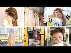 73 Best Cute Hairstyles For School Images Cute Girls Hairstyles
