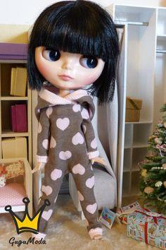 Blythe pyjamas overall by GuguModa on Etsy