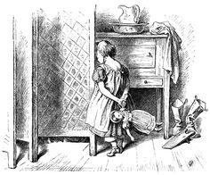 Hide and Seek ~ Free Printable Victorian Storybook Engraving by Oscar Pletsch